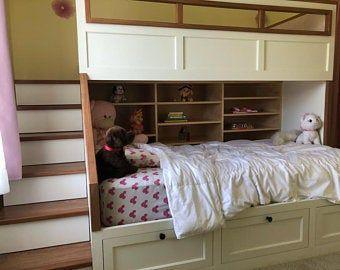 The BIG SKY Bunk Beds ---- Loft Bed Bunk Bed Frame Full Bed King Bed Frame Kids Room Furniture Adult Bunk Beds Queen Bunk Bed Full Bunk Beds