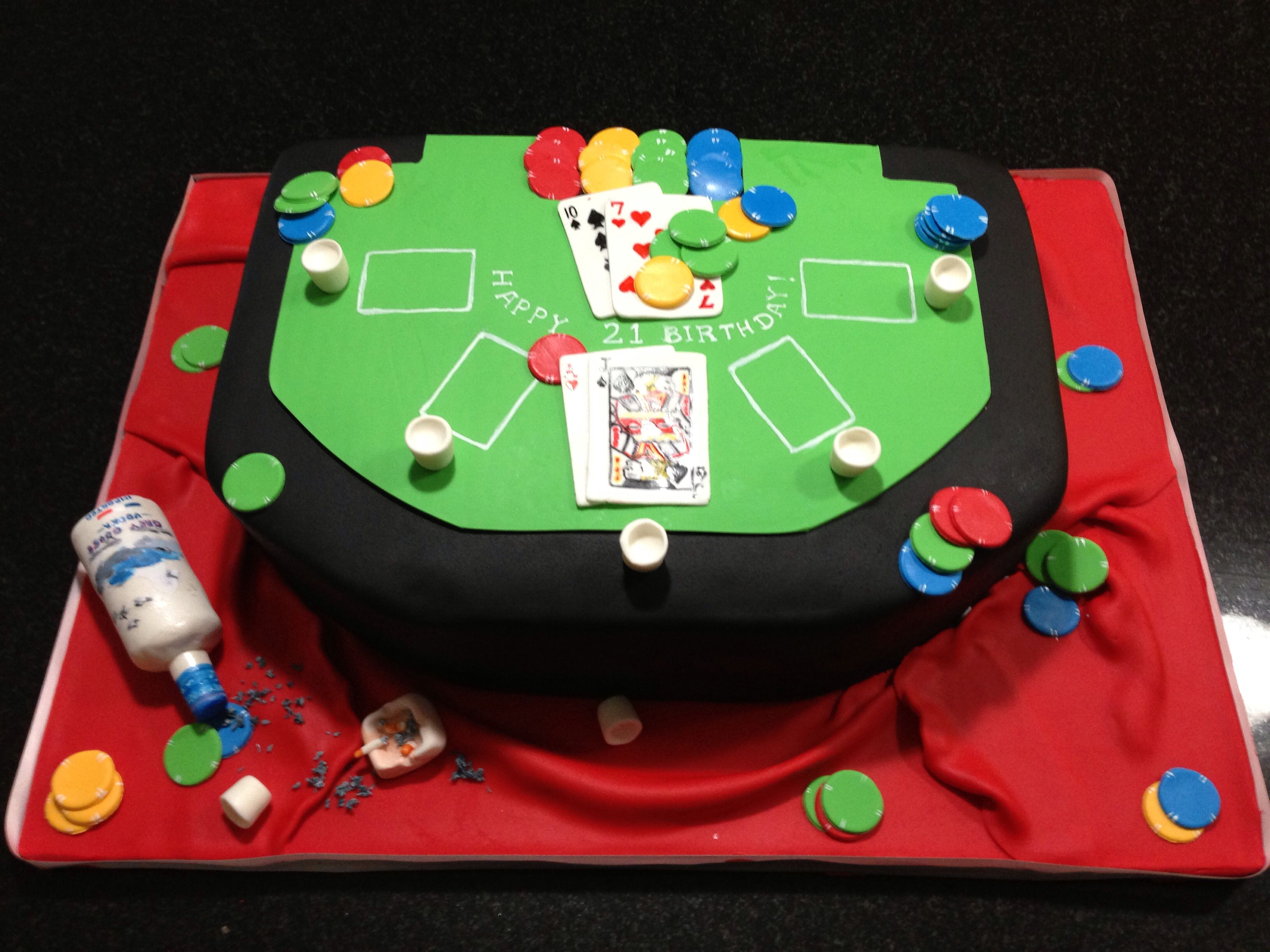 Virtual blackjack table - Casino Blackjack Table Cake