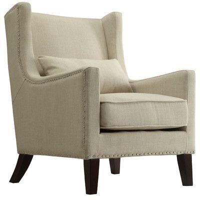 Kingstown Home Jeannette Wingback Arm Chair Reviews Wayfair Armchair Nailhead Chair Furniture