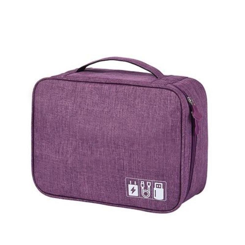 Portable Digital USB Gadget Travel Organizer - Purple