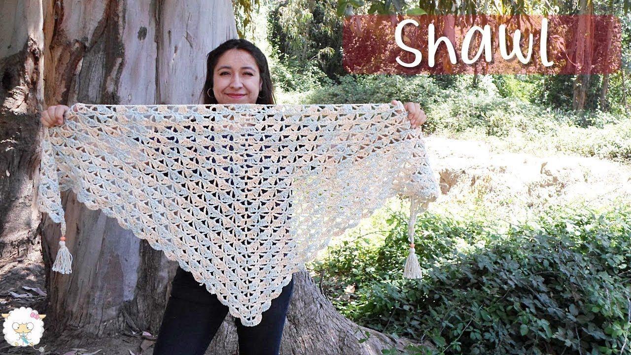 Chal O Shawl A Crochet Ganchillo Como Hacer Borlas Ganchillo Crochet
