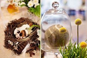 Yellow Bird Themed Wedding | Garden Styled Centerpieces | Planning by Ambiance | Paper by Admire Design | Photos by Danny Kash