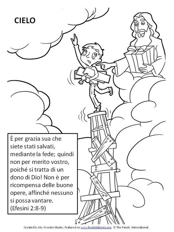 Versetti della bibbia per bambini efesini 2 8 9 scuola - Foglio da colorare della bibbia ...