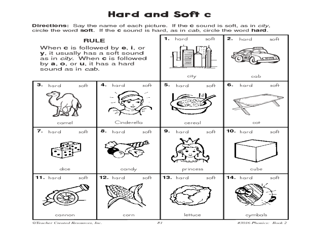 Workbooks soft g and c worksheets : Short Vowels, Hard and Soft C Practice Worksheet | Lesson Planet ...