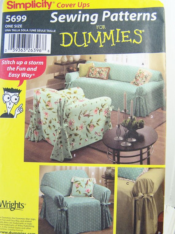 Simplicity 5699 Sewing Pattern Sofa Covers by WitsEndDesign ...