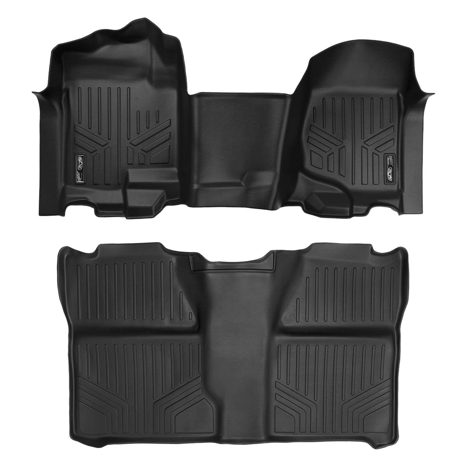 SMARTLINER Custom Fit Floor Mats 2 Row Liner Set Black for