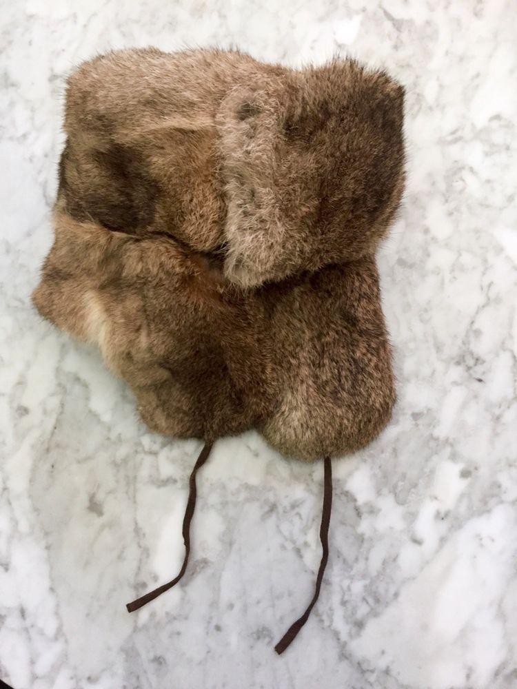 2613681ba VINTAGE Rabbit Fur Trapper Hat #fashion #clothing #shoes ...