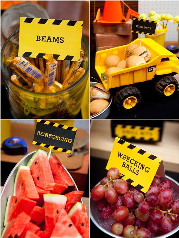 Under Construction Party Food Ideas