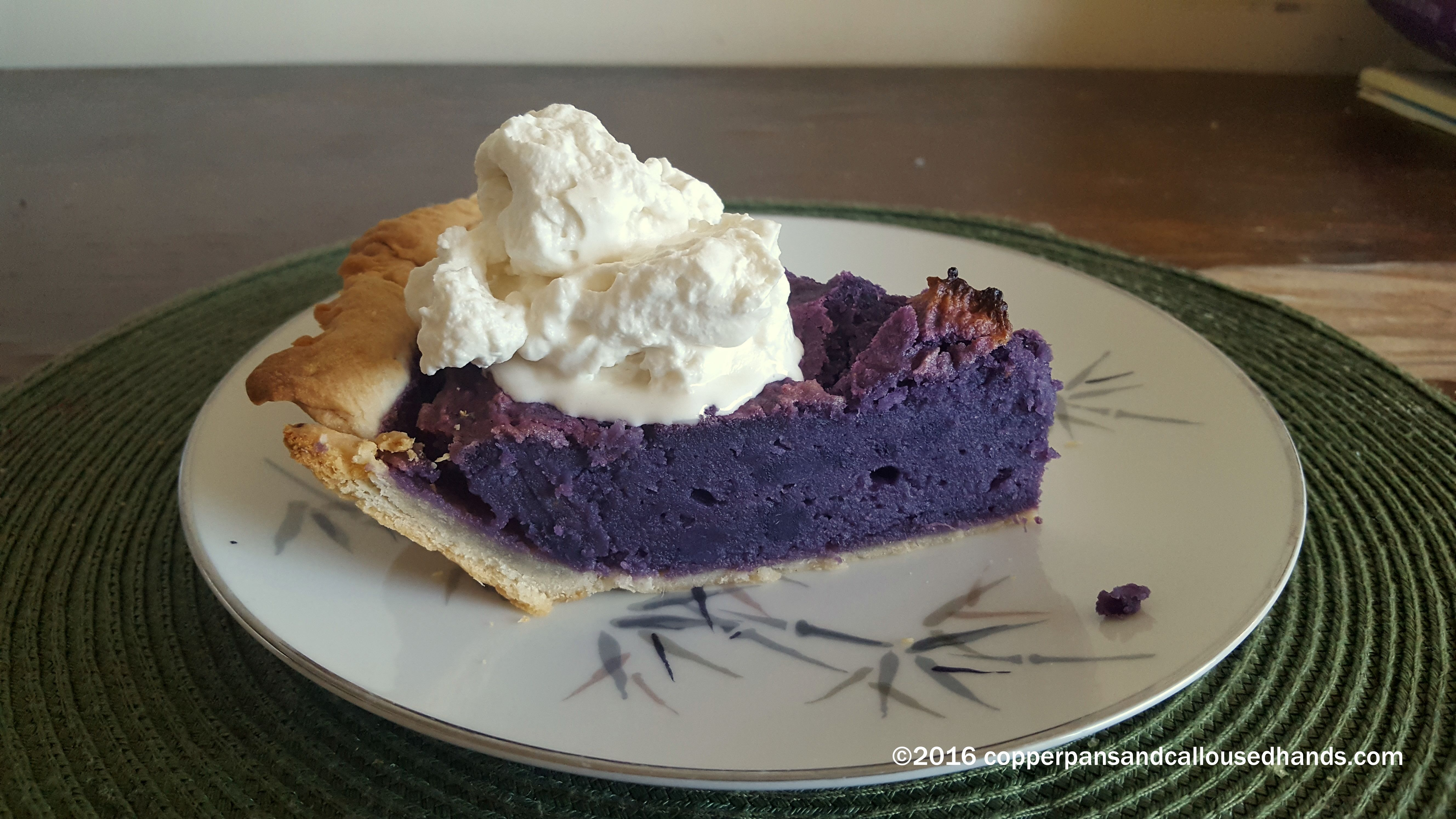 Okinawan Sweet Potato Pie Copper Pans Calloused Hands What S