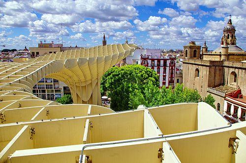 Séville 804 au sommet du Metropol Parasol - Setas de la Encarnación - plaza de la Encarnación - Jürgen Mayer-Hermann Architect