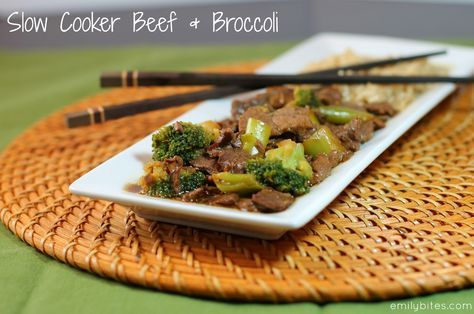Emily Bites - Weight Watchers Friendly Recipes: Slow Cooker Beef & Broccoli