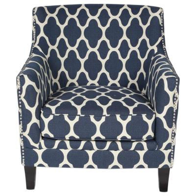 Best Porter Designs Cassie Blue Moroccan Pattern Accent Chair Accent Chairs Armchair Blue Accent 640 x 480