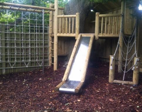 Wooden Climbing Frames With Slides - For Small Gardens | JC ...