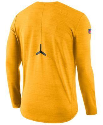 Nike Men S Pittsburgh Steelers Player Top Long Sleeve T Shirt Yellow Xxl Nike Men Pittsburgh Steelers Players Green Bay Packers Shirts