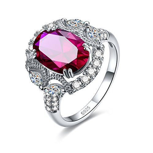 lingmei Women Ruby Amethyst 100/% S925 Sterling Gemstone Silver Rings Sz 6 7 8 9