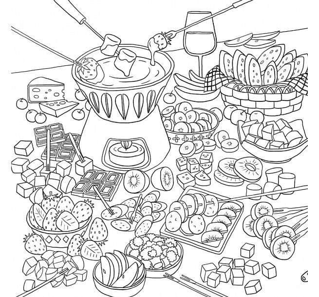 Coloriage Coloring Pages Adult Food Cupcake Rhpinterest: Food Coloring Pages For Adults At Baymontmadison.com