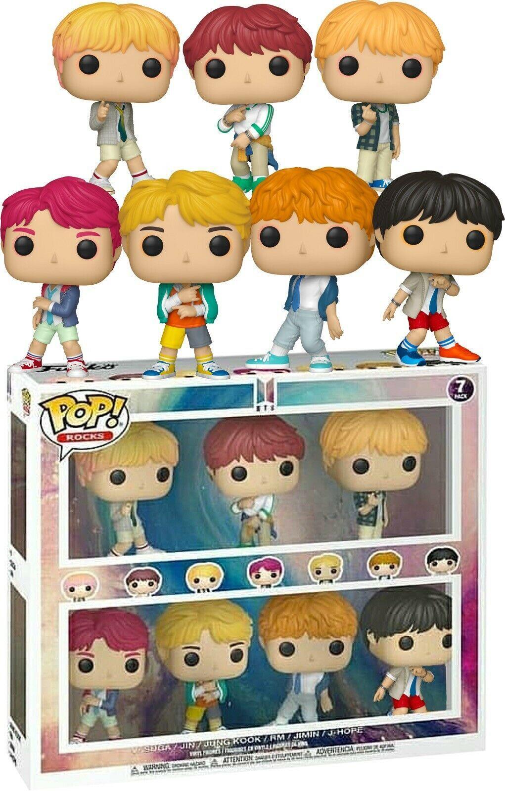 Funko Pop Bts Pack Complet Du Groupe Edition Collector Barnes Noble En Stock Brinquedos Pop