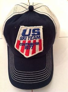 Custom-1977-US-Ski-Team-Contributor-Vintage-Ski-Patch-Trucker-Mesh-Ball-Cap- Hat 13b2587412b