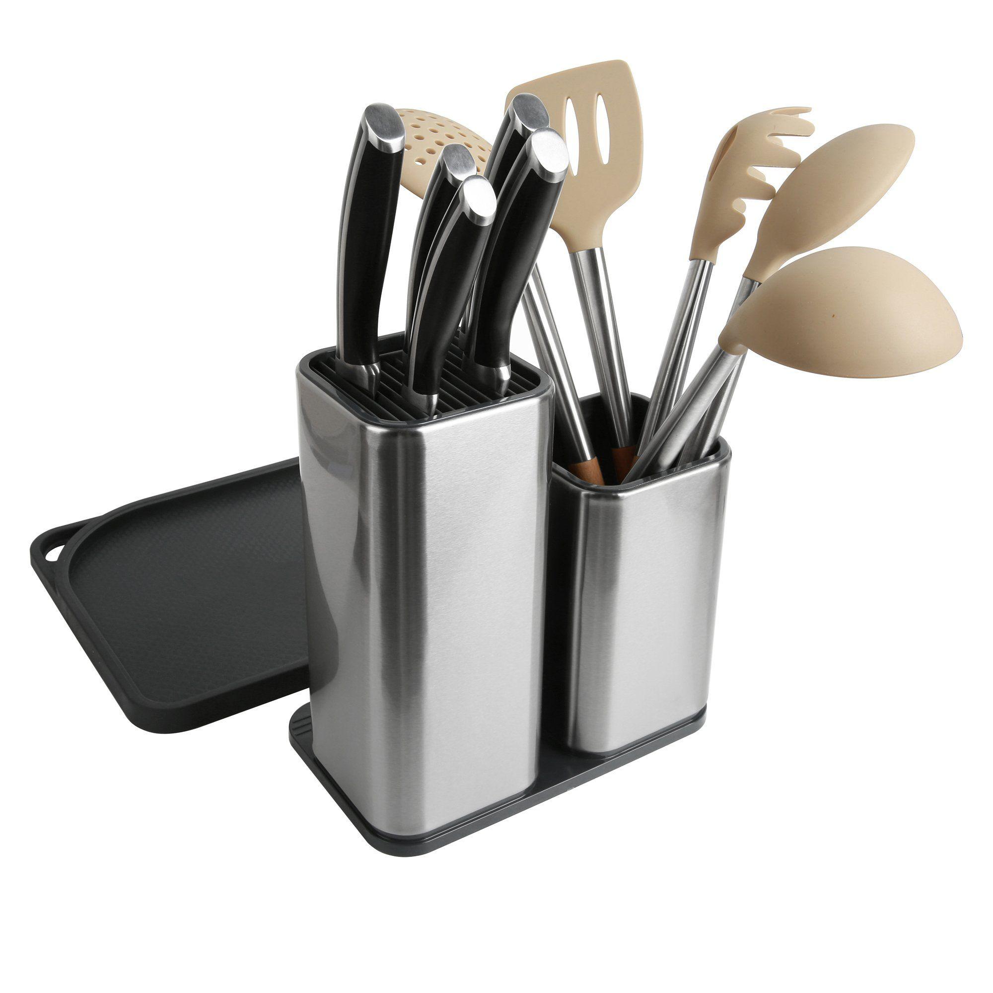 Elfrhino Utensil Holder Stainless Steel Kitchen Tool Knives Holder