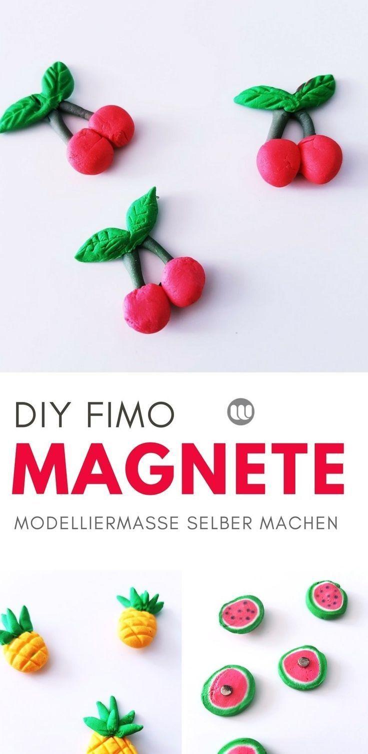 DIY Kühlschrankmagnete: Magnete basteln aus Modelliermasse