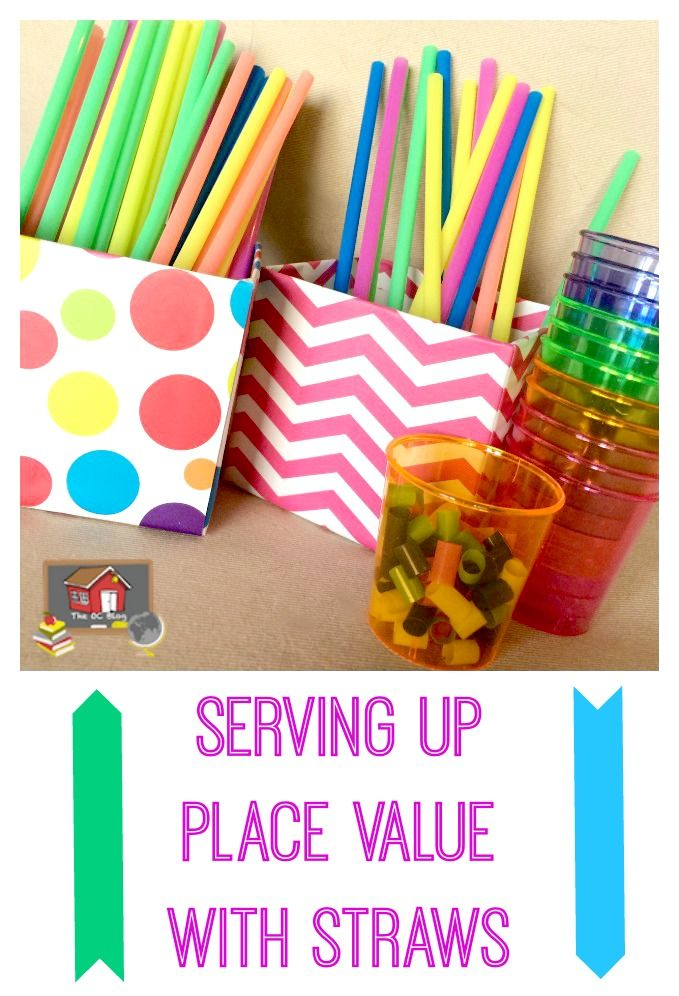 serving up place value with straws new teachers place values rh pinterest com Printable Place Value Chart Place Value Chart Clip Art