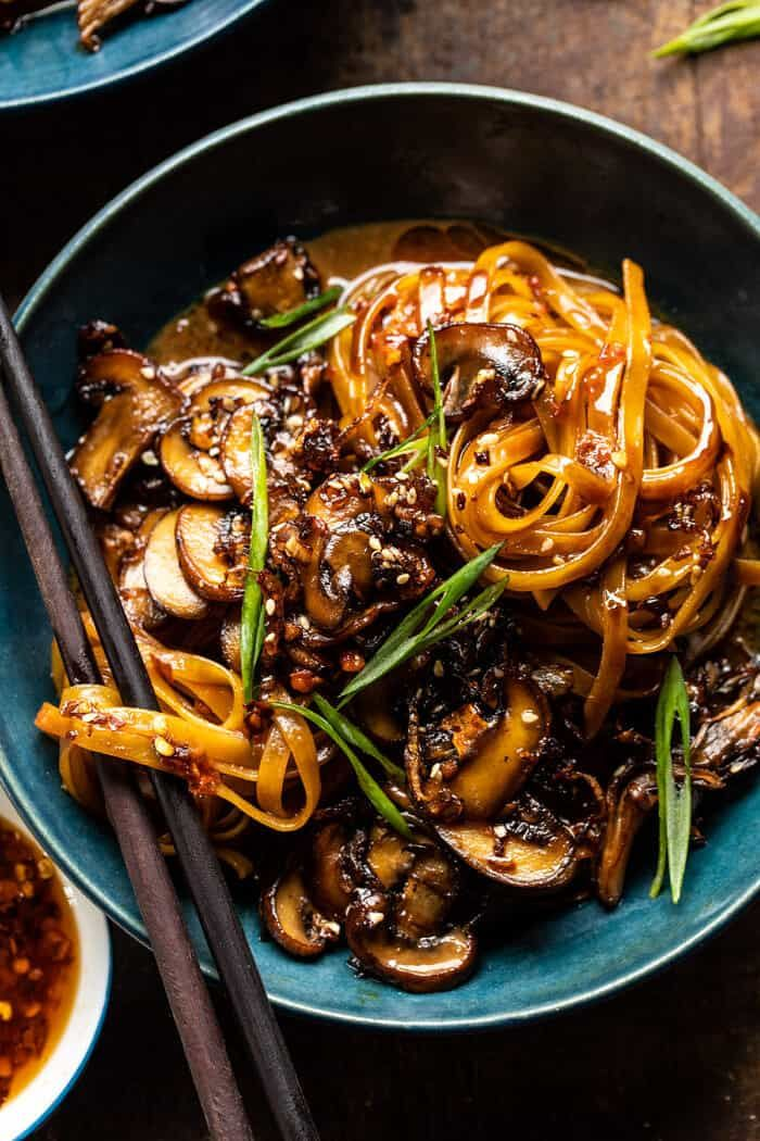 30 Minute Saucy Ginger Sesame Noodles with Caramel