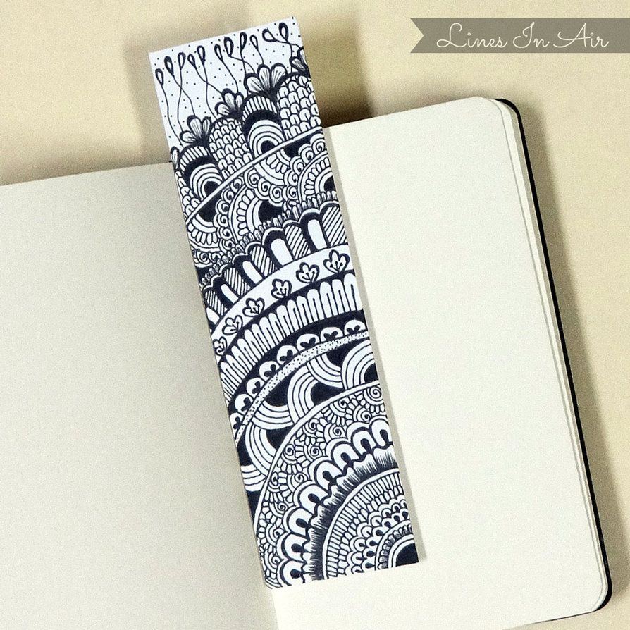 Watercolor bookmark patterns - Doodle Bookmark By Linesinair On Deviantart