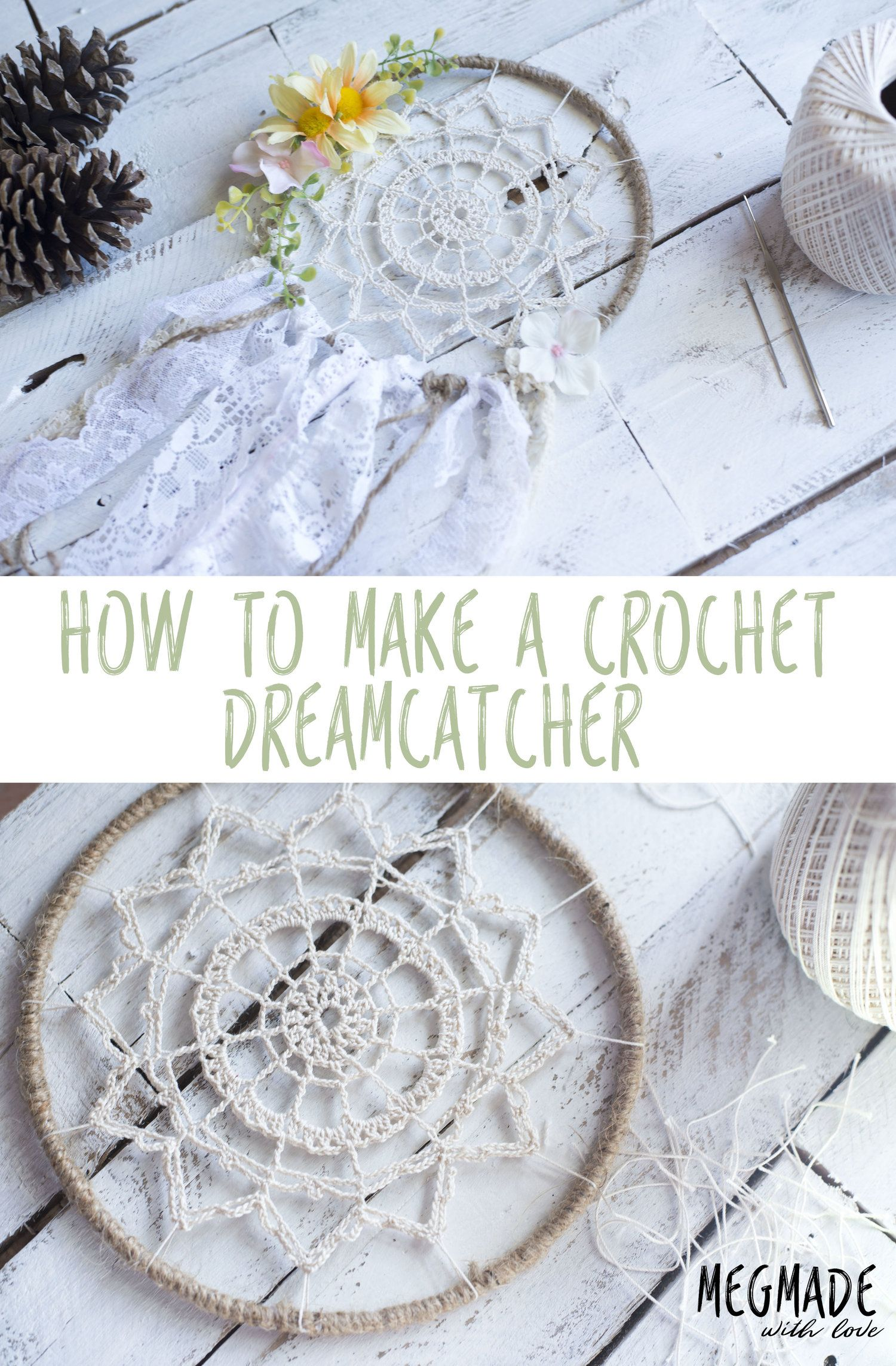 Crochet Dreamy Dreamcatcher Pattern   Crochet Doilies & Mandalas ...