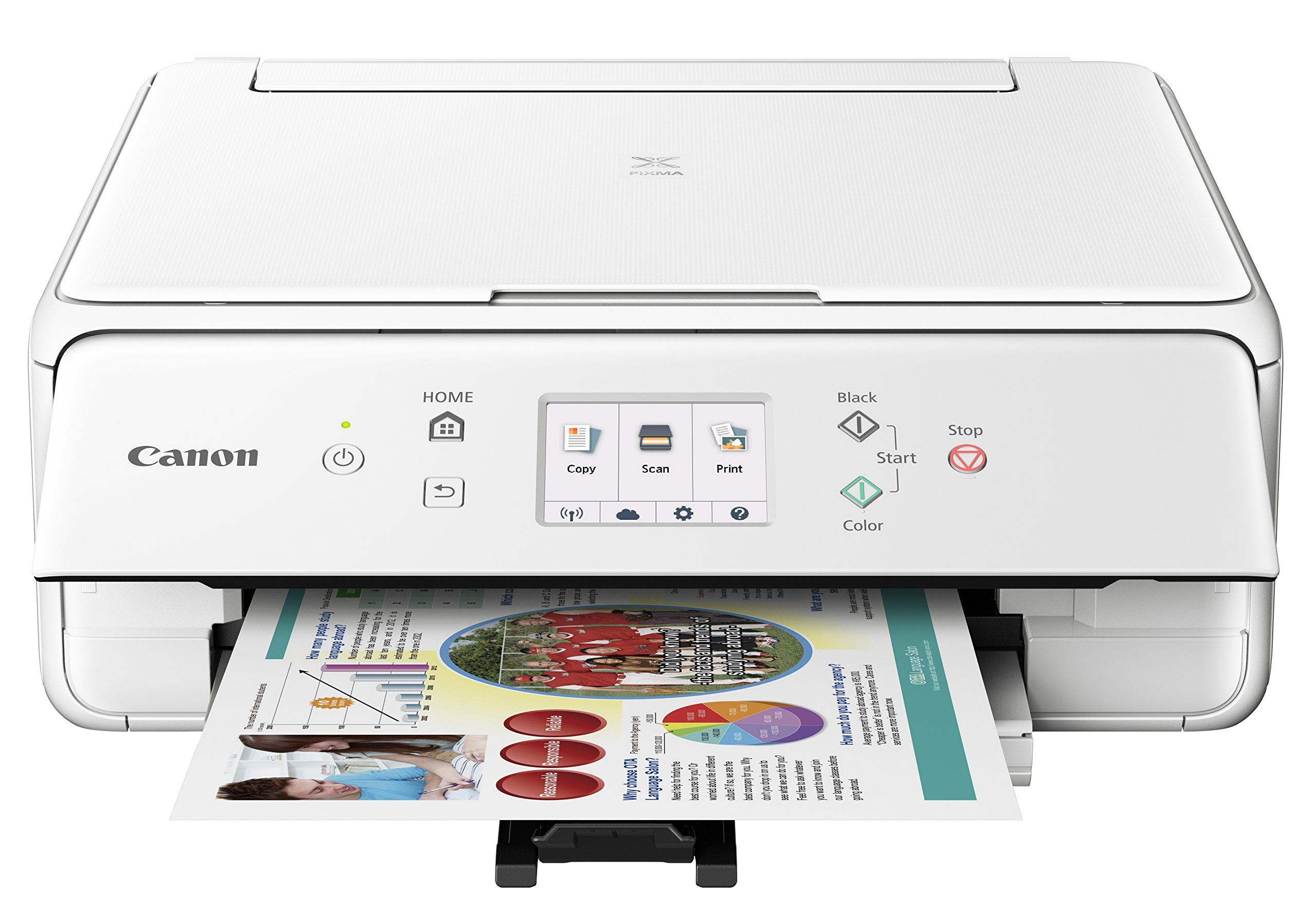 Canon Compact TS6020 Wireless Home Inkjet All-in-One Printer, Copier ...