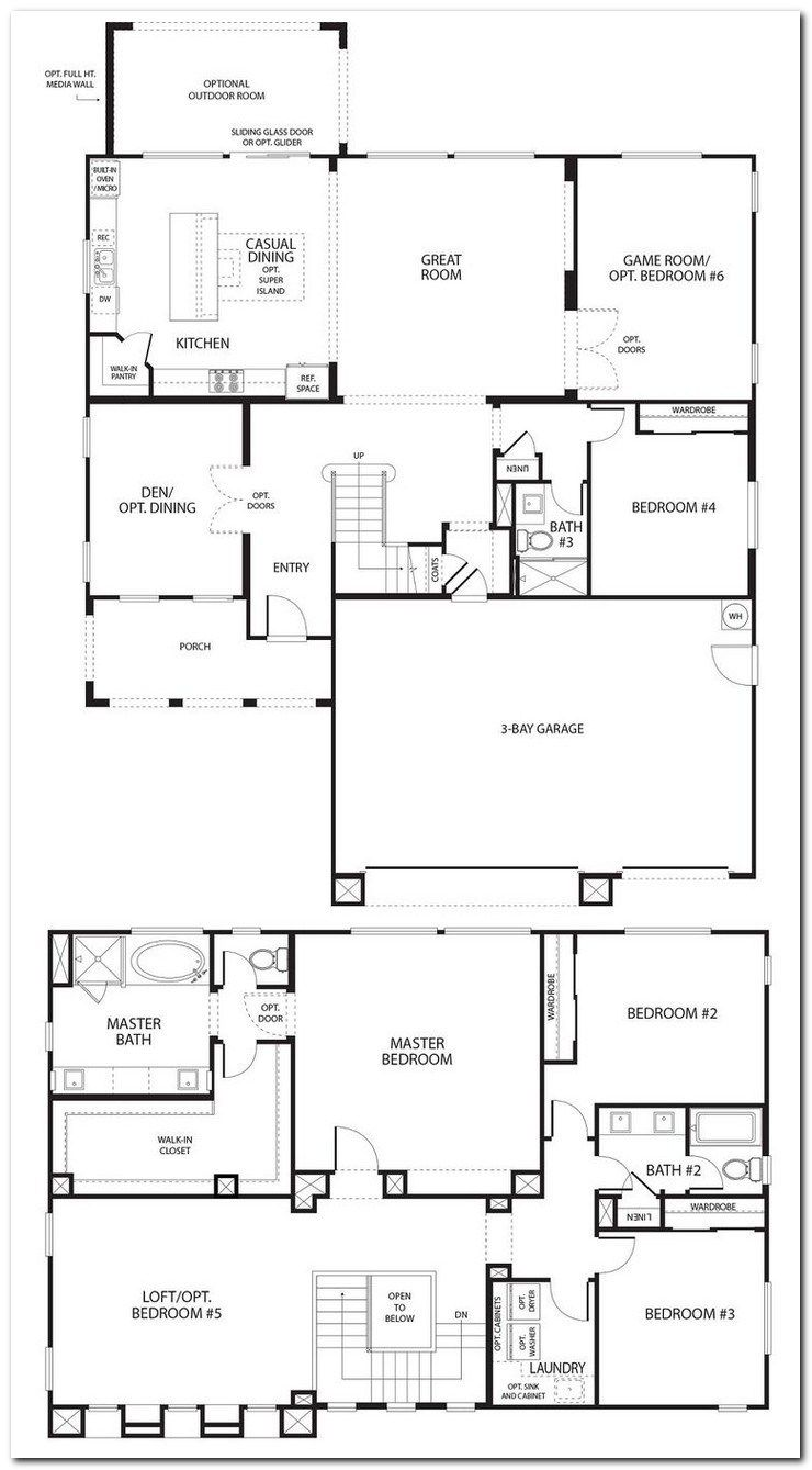 25 Awesomely Simple Modern House Plans 00055 Frequence3 Org Simple Floor Plans House Plans Bedroom House Plans