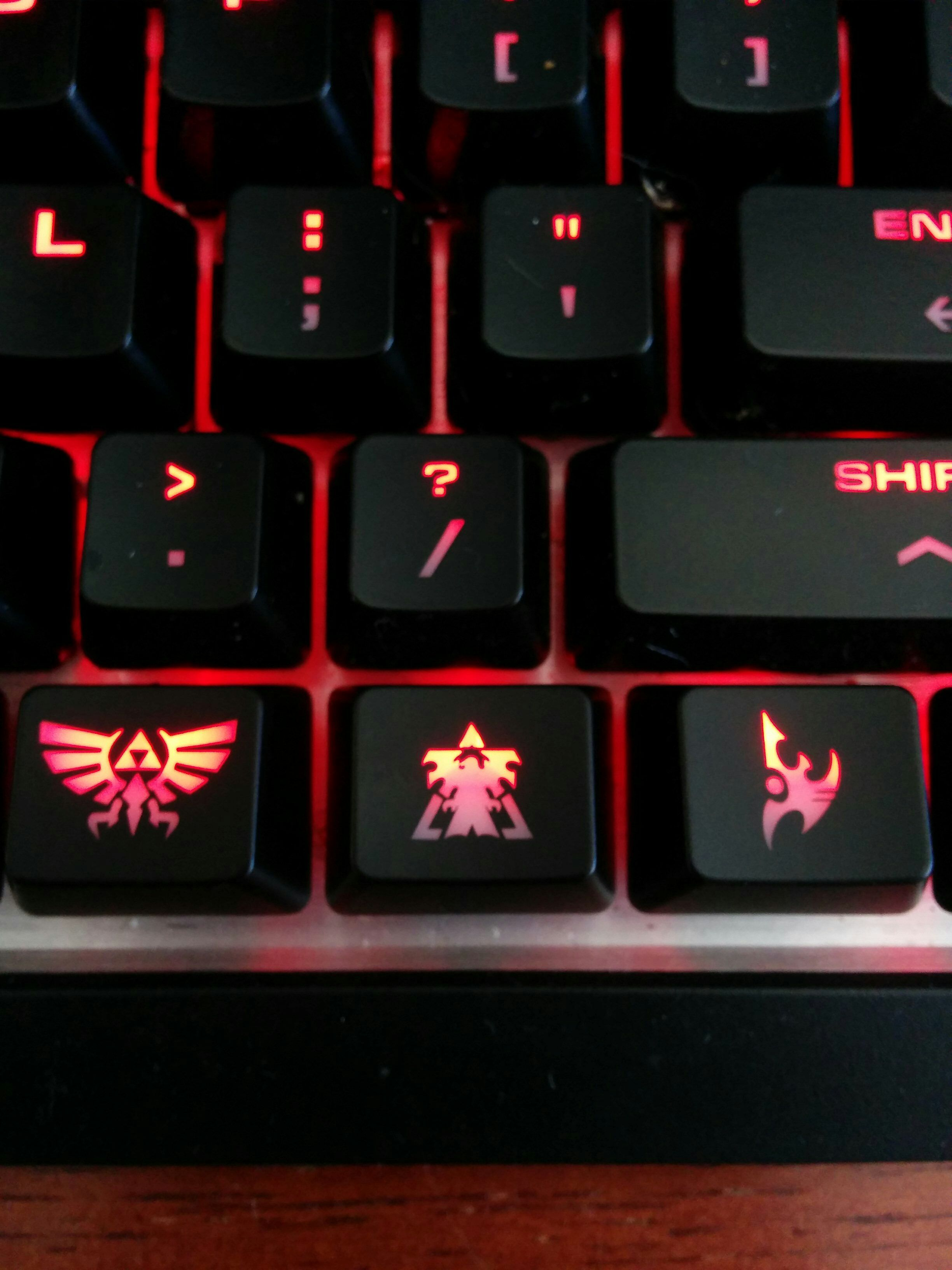 Custom key caps just came in #games #Starcraft #Starcraft2