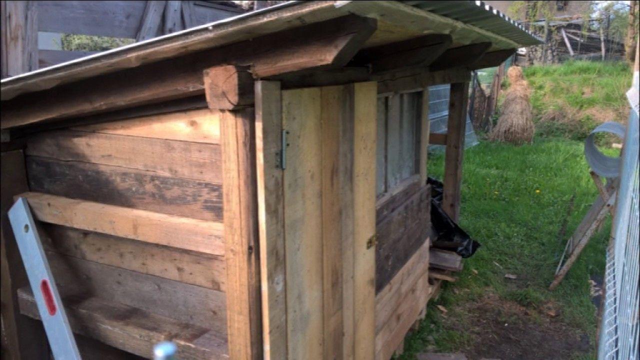 Kurnk Jak postavit kurnk pro slepice z palet How to build a chicken coop chicken house