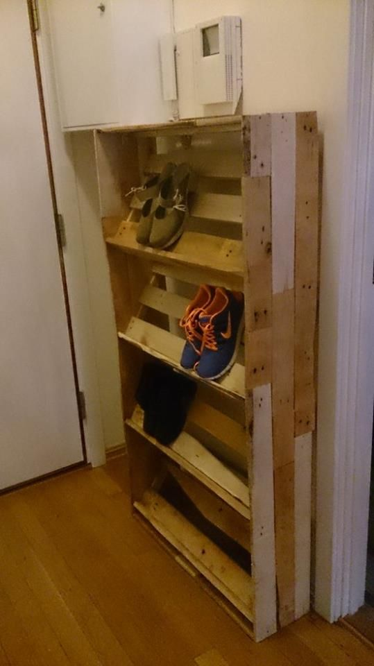 Pallet Shoe Shelf Palette Diy Projets En Bois De Palette