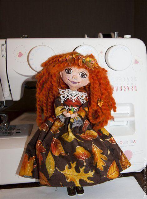 Кукла Осень. Часть 3. Каркас, платье и ботинки | Куклы ...