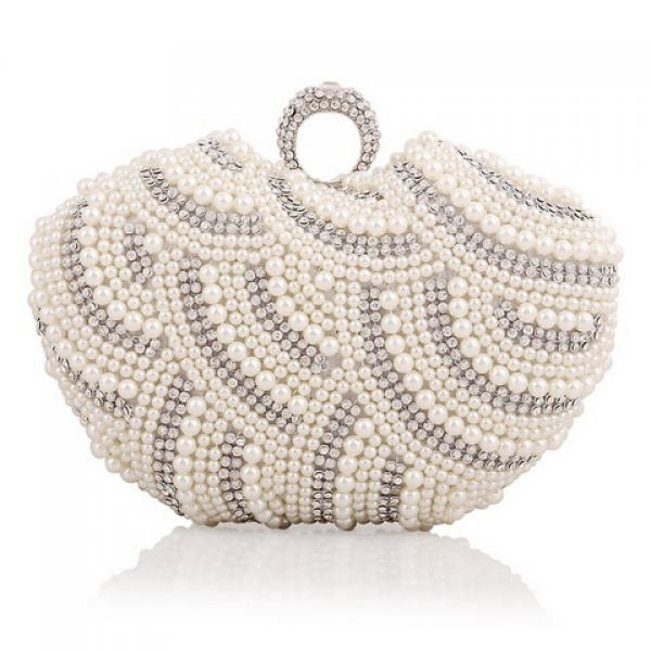 Buy Lovely Oval Shape Pearl Evening Bag Nude White China brand wholesale  ( 20.75) 7a454a523e56f