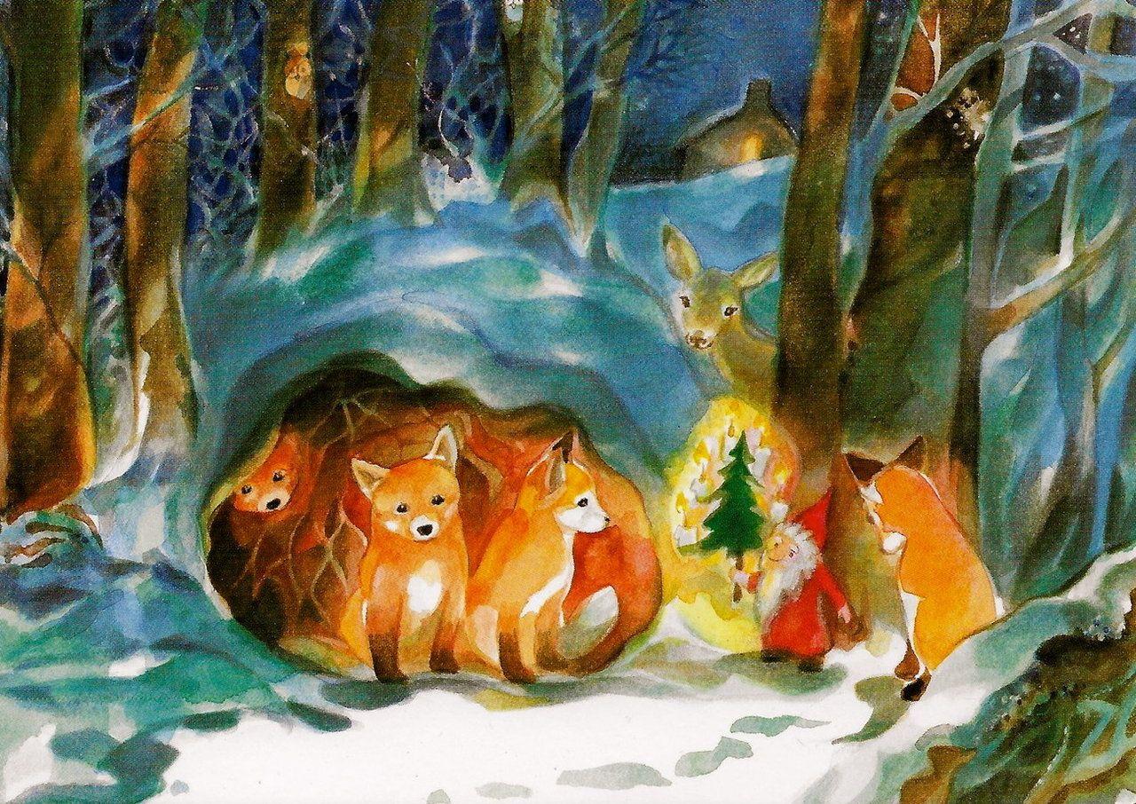 Weihnachten im Wald Illustration von MarieLaure Viriot