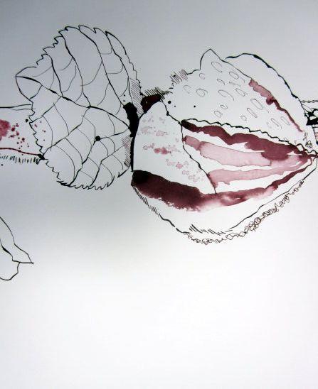 Einen räumlichen Kontext sehen - Bilder hängen im Atelier Susanne Haun