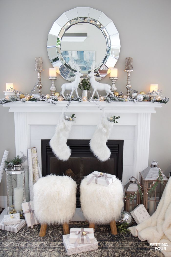 Photo of Glam Gold and White Christmas Home Tour & 30 Holiday Homes
