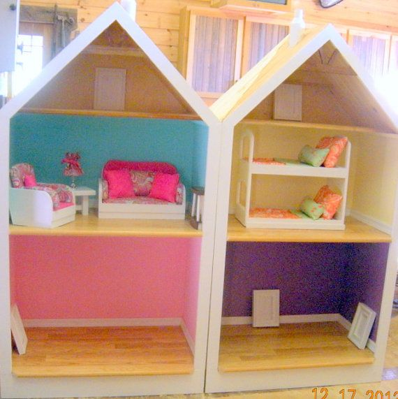 """American Girl Doll Living Room Furniture: American Girl Doll House, Fits Any 18"""" Doll"""