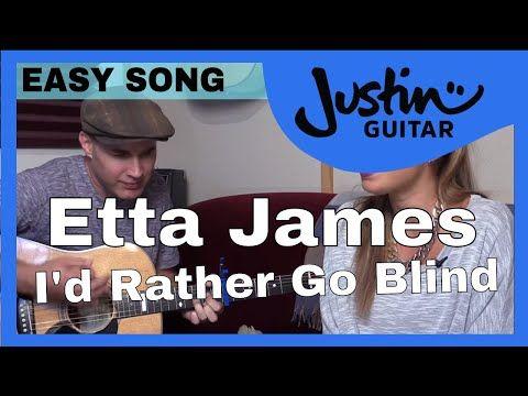 I\'d Rather Go Blind - Etta James - Easy Beginner 2 Chord Guitar ...