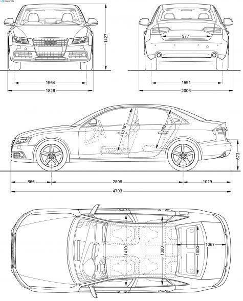 Cool Audi 2017 2008 Audi A4 (Typ 8E) Sedan blueprint Projects to - copy car blueprint website