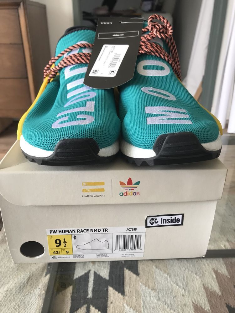 57a551b612382 ADIDAS PW HUMAN RACE NMD GREEN SUNGLOW TEAL AC7188 PHARRELL TRAIL SIZE 9.   fashion  clothing  shoes  accessories  mensshoes  athleticshoes (ebay link)