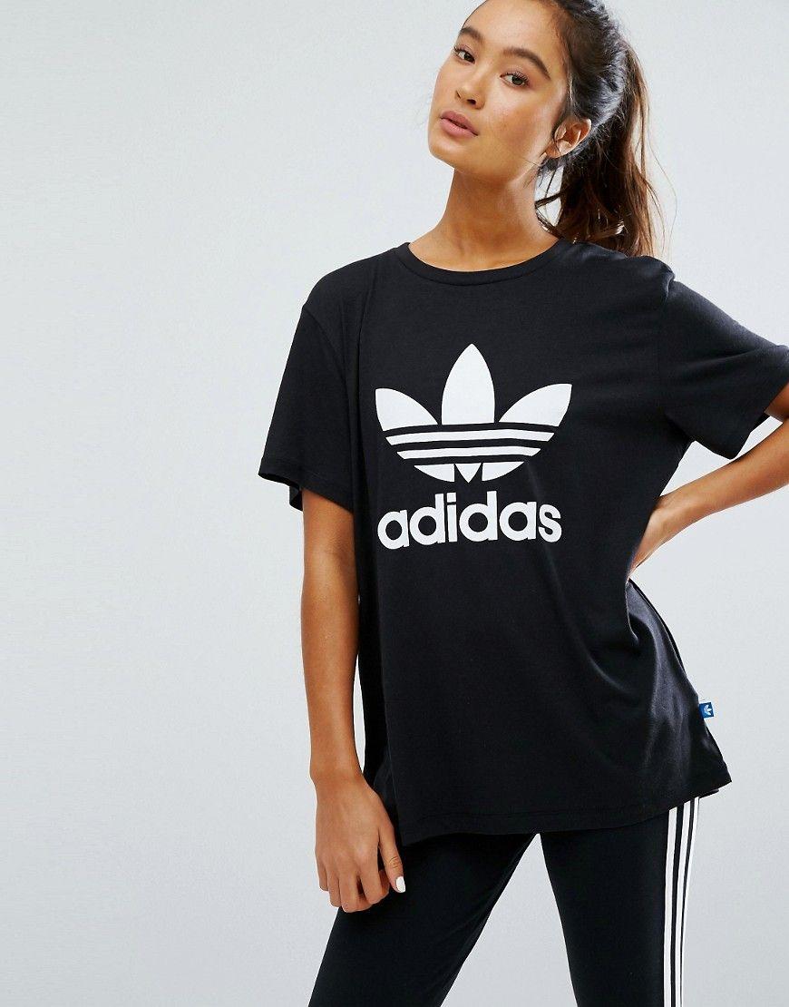 Adidas originals adicolour oversized tshirt with trefoil logo