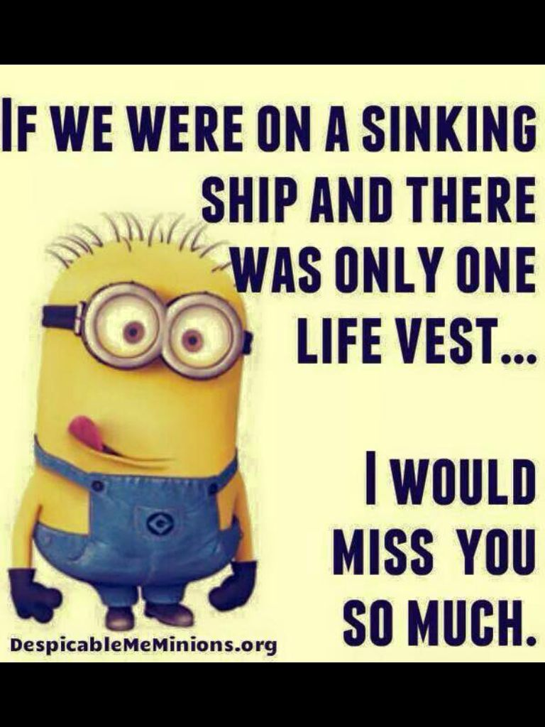 Life Jacket Funny Minion Pictures Minions Funny Funny Minion Quotes