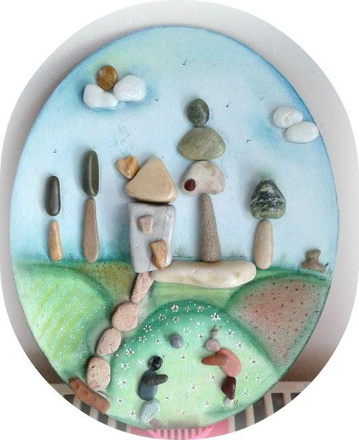 поделка с крупными камнями окружающий мир красоты