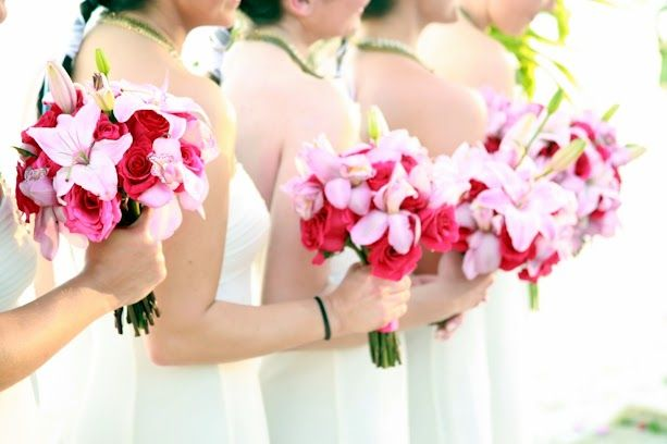 bouquets of pink