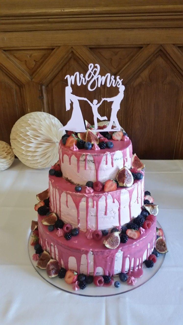 Hochzeitstorte Hochzeitstorte Ohne Fondant Drip Cake Rosa