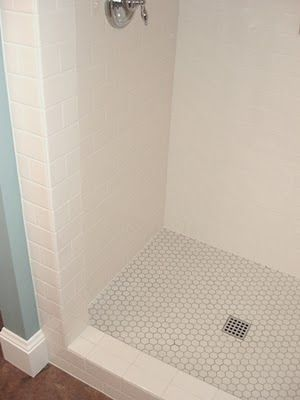 Superieur Basic Shower Materials: Subway Tile And Hex Tile For Floors   Excellent.