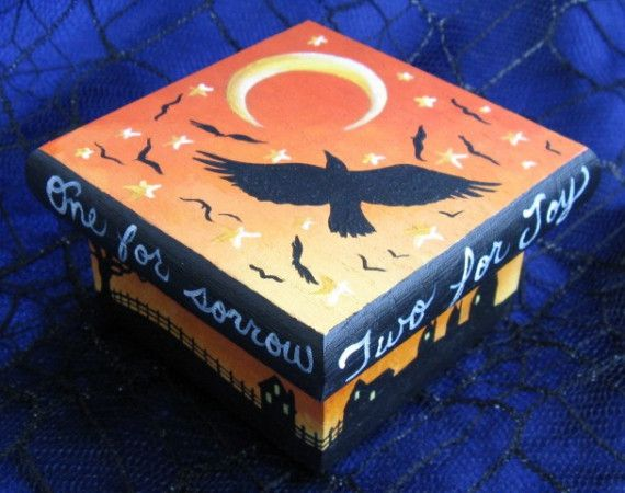 Counting Crows Halloween Trinket/Ring Box por kingofmicestudios