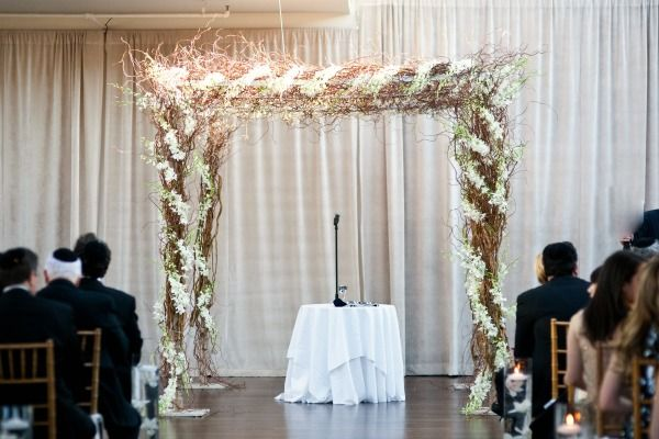 15 Wedding Canopy Ideas - Organic Natural Chuppah with White Orchids Ariston Flowers & 15 Wedding Canopy Ideas - Organic Natural Chuppah with White ...